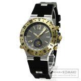 BVLGARI GMT40C5SGVD ディアゴノ 腕時計 OH済 K18イエローゴールド/ラバー メンズ 中古 ブルガリ