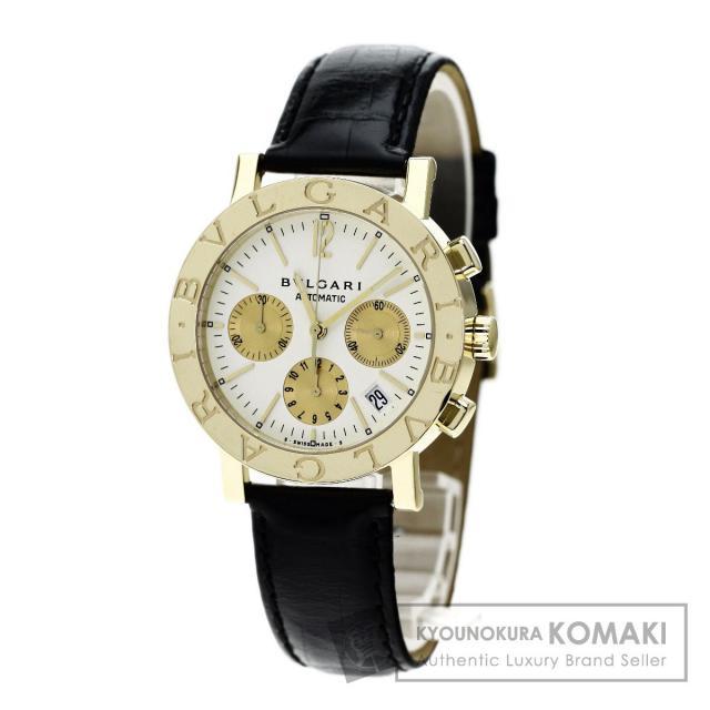 BVLGARI BB38GLDCH ブルガリブルガリ 腕時計 OH済 /K18YG/アリゲーター メンズ 中古 ブルガリ