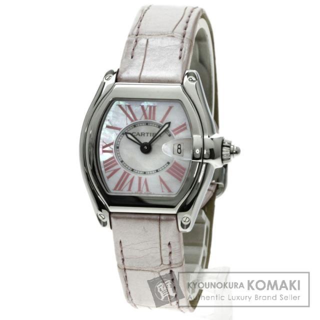 CARTIER W6206006 ロードスター 2008Xmasモデル 腕時計 /SS/アリゲーター レディース 中古 カルティエ