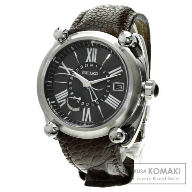 SEIKO SBLA003 5R66-0AB0 ガランデ スプリングドライブ 腕時計 /SS/革 メンズ 中古 セイコー