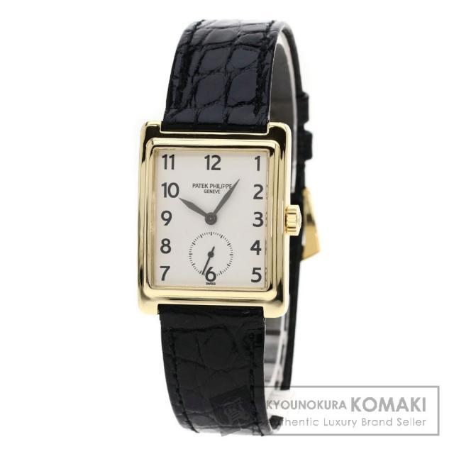 PATEK PHILIPPE 5010 ゴンドーロ 腕時計 OH済 K18イエローゴールド/クロコダイル メンズ 中古 パテックフィリップ