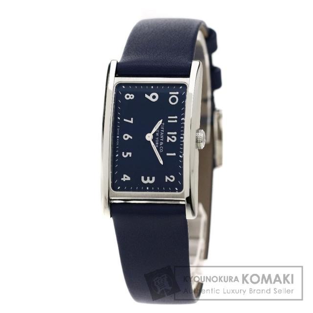 TIFFANY&Co. 36668644 イースト ウェスト ミニ 腕時計 ステンレス/革 レディース 中古 ティファニー