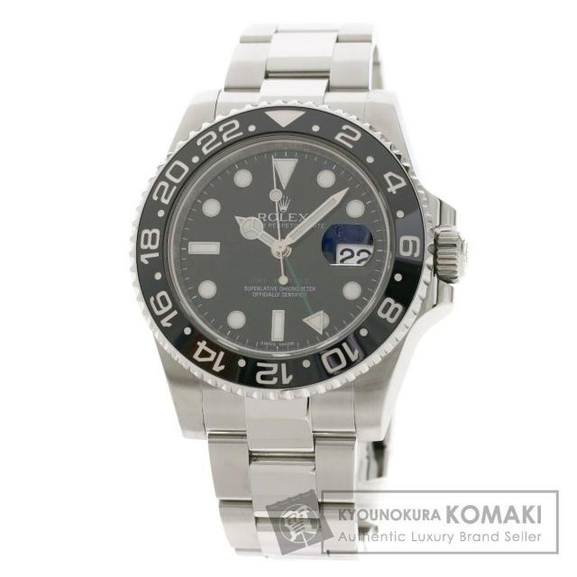 ロレックス 116710LN GMTマスター 腕時計 ステンレススチール/SS メンズ 中古 ROLEX