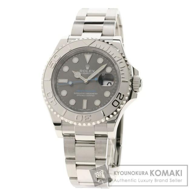 ロレックス 116622 ヨットマスター ダークロレジウム 腕時計 ステンレススチール/SS/PT メンズ 中古 ROLEX
