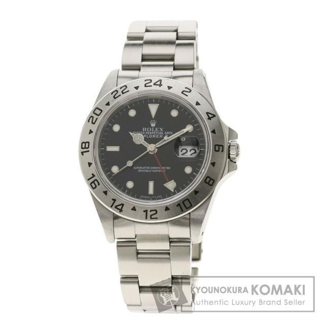 ロレックス 16570 エクスプローラー2 腕時計 OH済 ステンレススチール/SS メンズ 中古 ROLEX