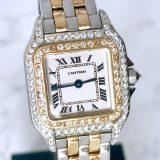 Cartier カルティエ パンテール SM コンビ ダイヤモンド 腕時計 中古 送料無料