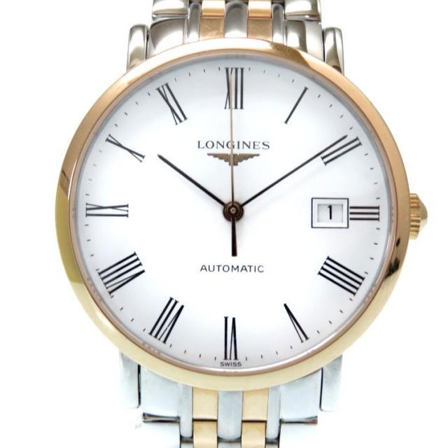 ロンジン エレガント 自動巻き メンズ 腕時計 L4.810.5 K18ローズゴールド/ステンレス 0329 中古 LONGINES 新品同様