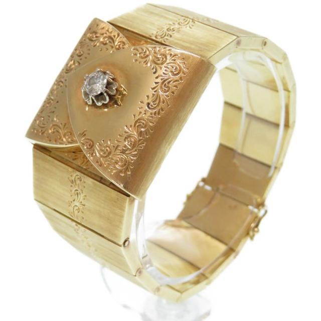 ティソ 金無垢 K18YG/ダイヤモンド 手巻き 腕時計 75.5g ゴールド 0497 中古 TISSOT