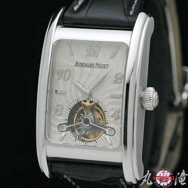 オーデマ・ピゲ AUDEMARS PIGUET エドワール・ピゲ トゥールビヨン K18WG メンズ腕時計 手巻き 保証書付き