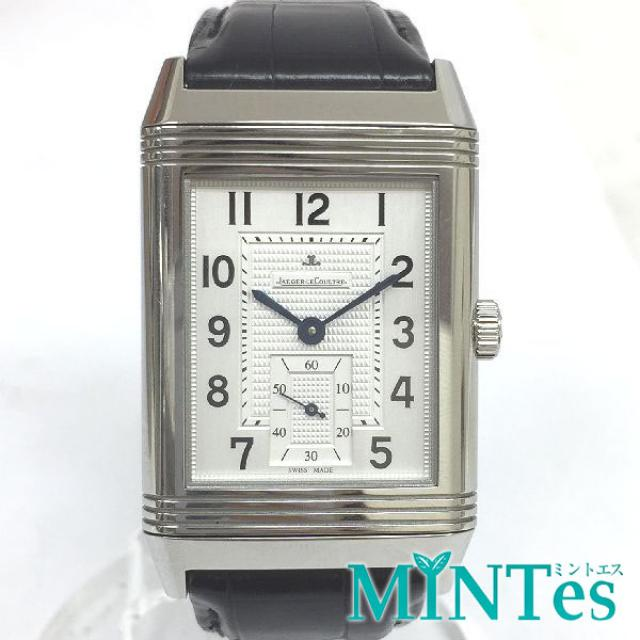 JAEGER-LECOULTRE REVERSO グランドレベルソ 976 273.8.04 腕時計 手巻き 裏スケ メンズ シルバー文字盤 SS×レザー 美品 中古
