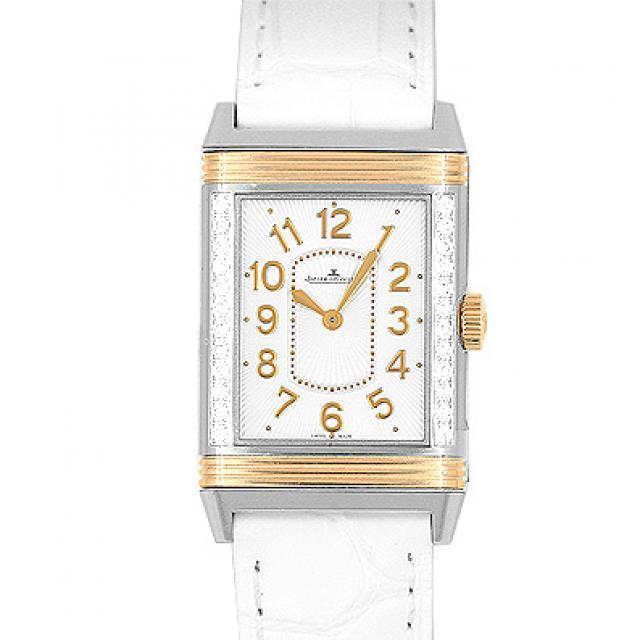 ジャガー・ルクルト JAEGERLECOULTRE レベルソ Q3224420 268.D.86 PG×SS×革 40mm×24mm シルバー 送料無料 未使用 メンズ 腕時計 本店_46776