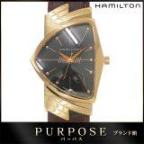 ハミルトン HAMILTON ベンチュラ H244410 50周年記念モデル 限定1000本 メンズ 腕時計 ダイヤ グレー 文字盤 H24441521 ピンクゴールド クォーツ ウォッチ 中古 電池交換 済み