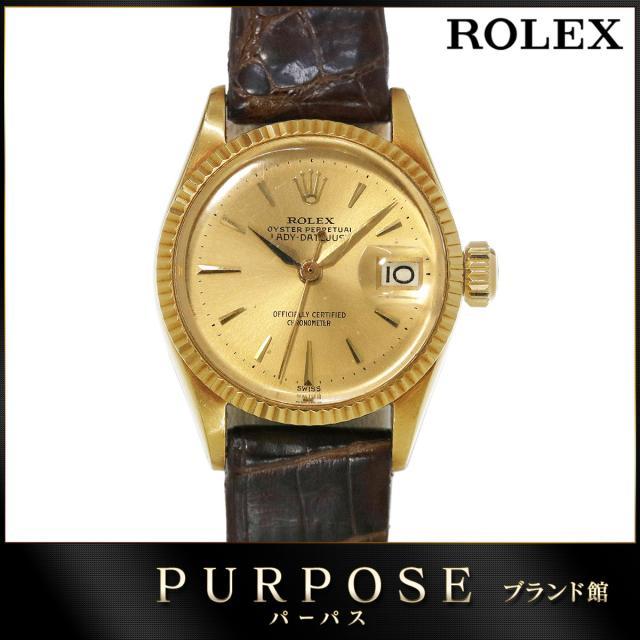 quality design 7999f e6c8d ロレックス ROLEX デイトジャスト 6517 K18YG Cal.1130 ...