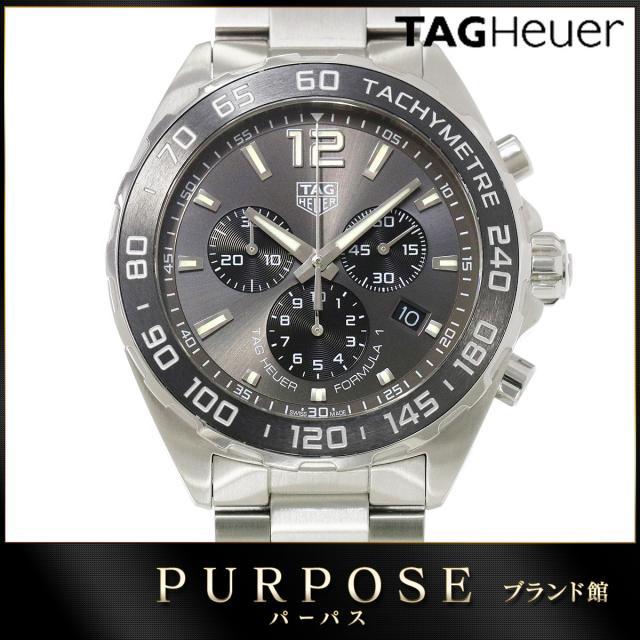 タグホイヤー TAG HEUER フォーミュラ1 CAZ1011 メンズ 腕時計 クロノグラフ デイト グレー 文字盤 クォーツ ウォッチ 中古 電池交換 済み