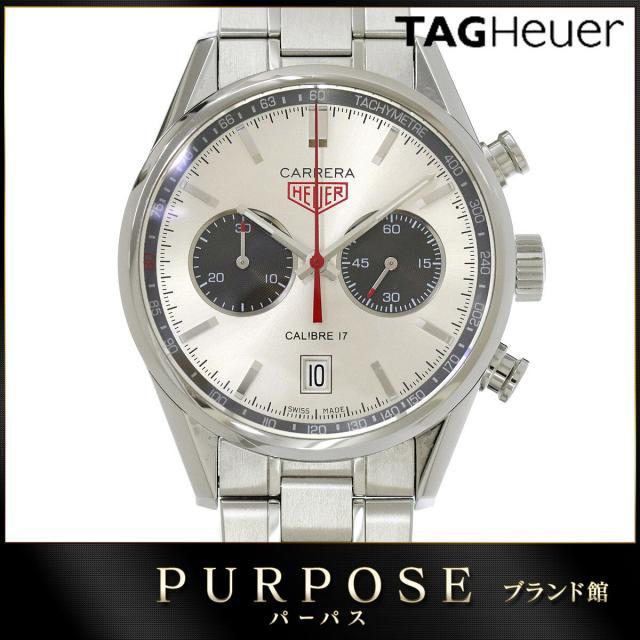 タグホイヤー TAG HEUER カレラ CV2119 ジャックホイヤー メンズ 腕時計 クロノグラフ デイト 自動巻き オートマ ウォッチ 中古