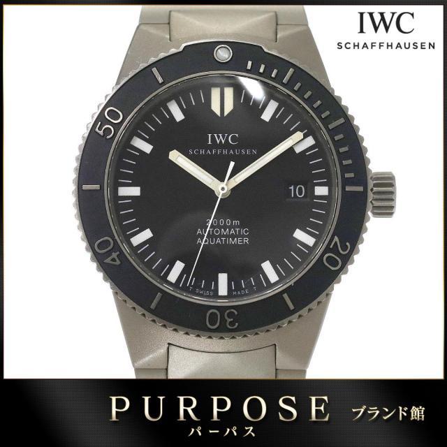IWC GST アクアタイマー IW353601 メンズ 腕時計 デイト ブラック 文字盤 Ti チタン オートマ 自動巻き インターナショナル ウォッチ カンパニー 中古