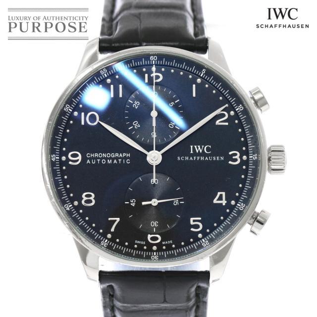 IWC ポルトギーゼ IW371438 クロノグラフ メンズ 腕時計 ブラック 黒 文字盤 自動巻き オートマ インターナショナル ウォッチ カンパニー 中古