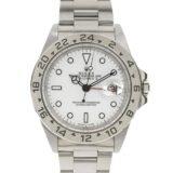 ROLEX 美品 ロレックス ROLEX エクスプローラー 2 腕時計 16570 白 メンズ シルバー ホワイト 中古