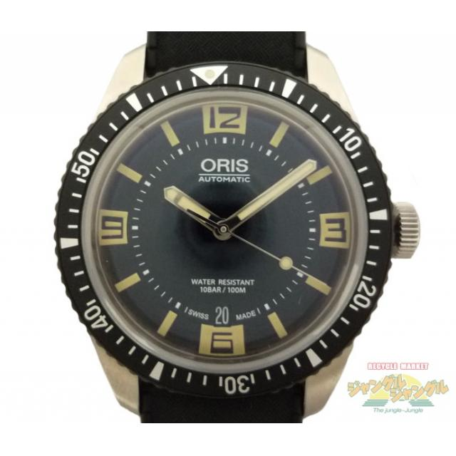 ORIS オリス メンズ腕時計 ダイバーズ65 SS×ラバー オートマチック(AT:自動巻き) デイト ブラック文字盤 01 733 7707 4064-07 4 20 18 未使用品 メンズ Watch 中古