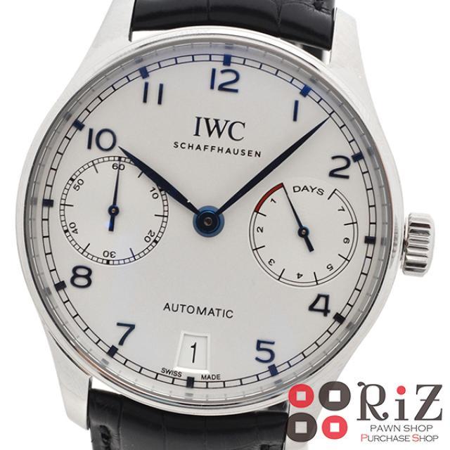IWC (アイダブルシー) ポルトギーゼ オートマティック 7デイズ 時計 自動巻き/メンズ ポルトギーゼ White IW500705 unused:S 中古