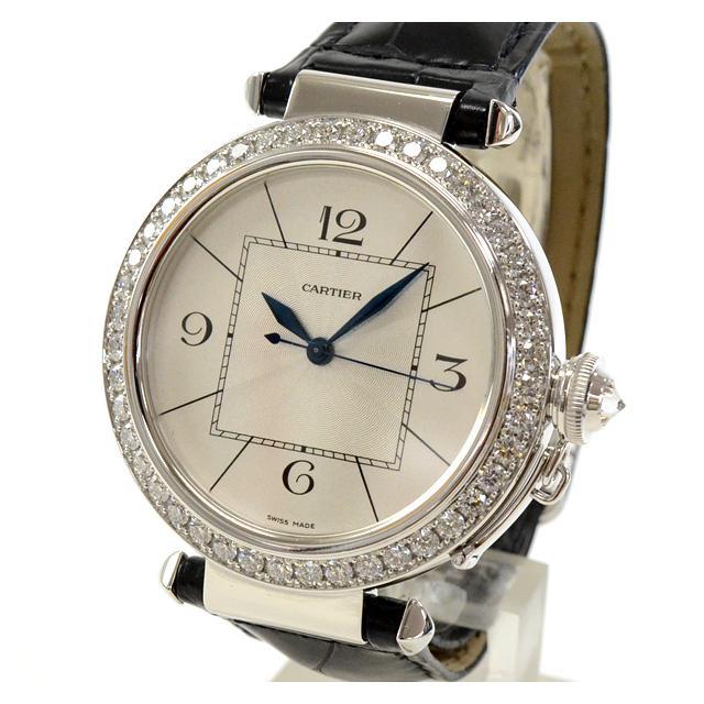 カルティエ Cartier パシャ42mm WJ120251メンズ腕時計 ホワイトゴールド 中古 A品