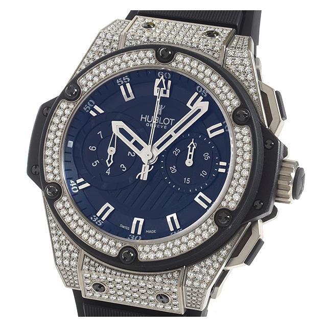 ウブロ HUBLOT キングパワー フドロワイヤント ジルコニウム 715.ZX.1127.RX.1704メンズ腕時計 チタニウム 中古 A品