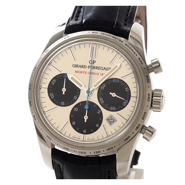 ジラールペルゴ GIRARD-PERREGAUX ラリーモンテカルロ 49585-11-131-BA6Aメンズ腕時計 ステンレス 中古 A品