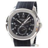 パテックフィリップ PATEKPHILIPPE アクアノート トラベルタイム 5164A-001メンズ腕時計 ステンレス 中古 A品