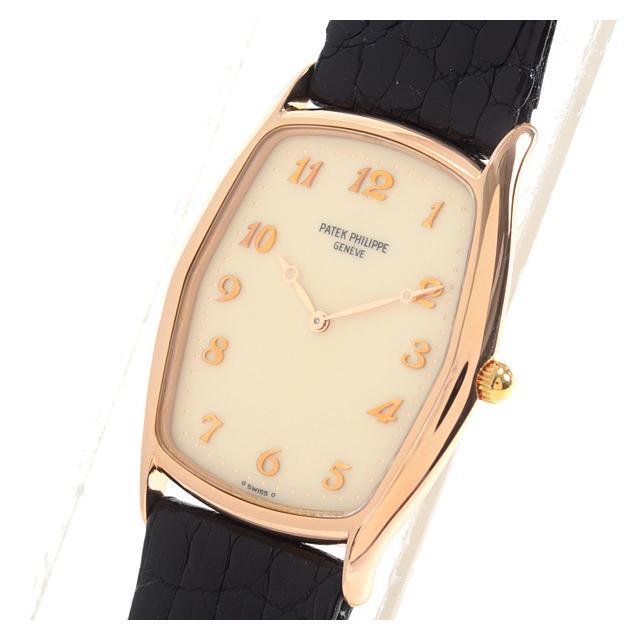 パテックフィリップ PATEKPHILIPPE ゴンドーロ 3842Rレディース腕時計 ローズゴールド 中古 A品