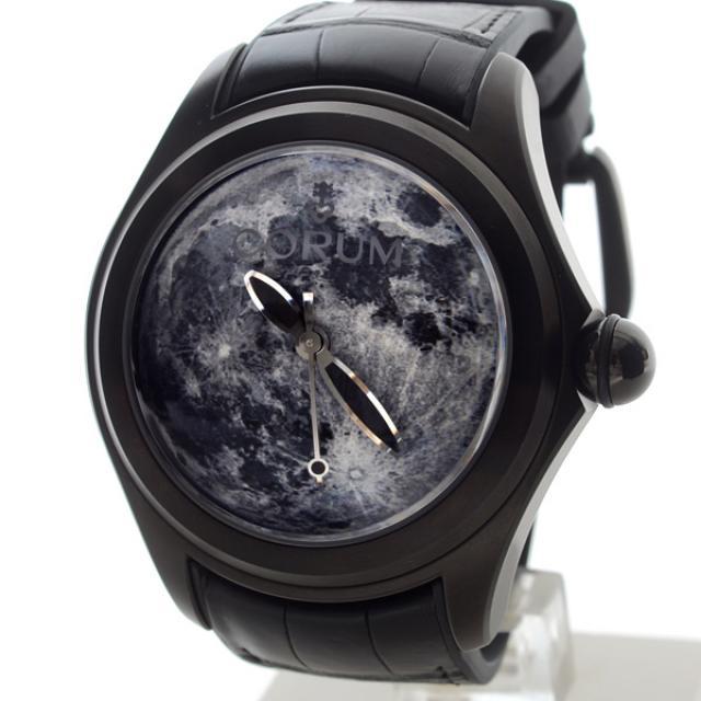 コルム CORUM バブル ルナシステム 082.310.98/0001 MO01メンズ腕時計 ステンレスPVD加工 未使用品