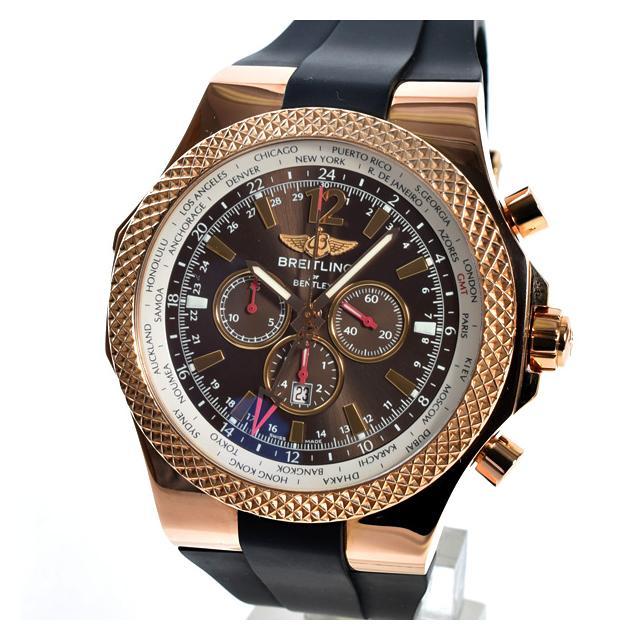 ブライトリング BREITLING ベントレーGMT R47362メンズ腕時計 ピンクゴールド 未使用品