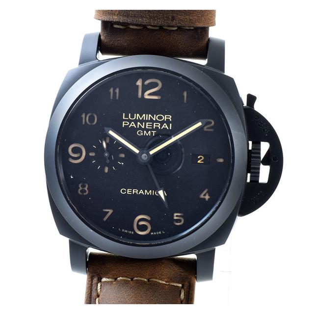 パネライ PANERAI ルミノール1950 3DAYS GMT PAM00441メンズ腕時計 セラミック 中古 A品