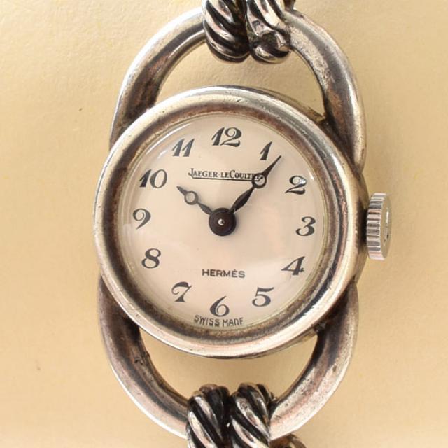 ジャガールクルト Jaeger-LeCoultre エルメスWネーム レディース腕時計 シルバー 中古 A品