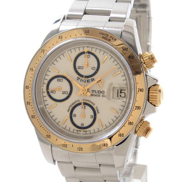 チュードル TUDOR タイガープリンスデイト 79263Pメンズ腕時計 ステンレスxイエローゴールド 中古 A品