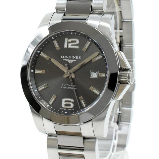 ロンジン LONGINES コンクエスト L3.657.4.06.7メンズ腕時計 ステンレスxセラミック 中古 A品
