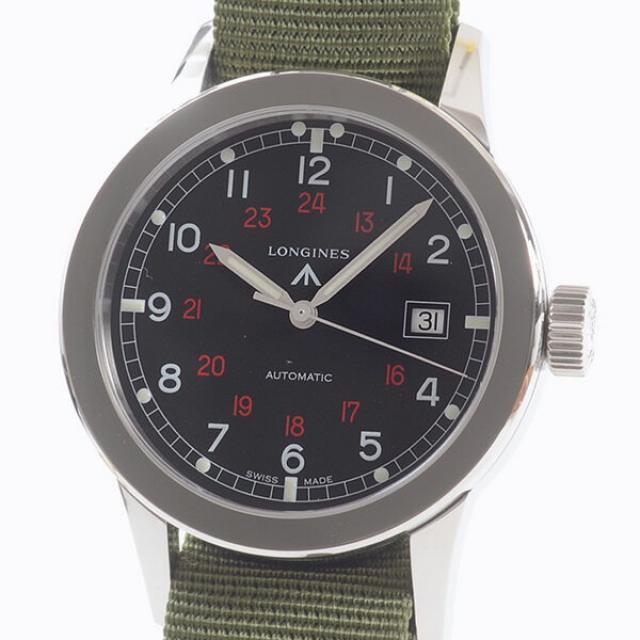 ロンジン LONGINES ヘリテージミリタリー L2.832.4メンズ腕時計 ステンレス 中古 A品