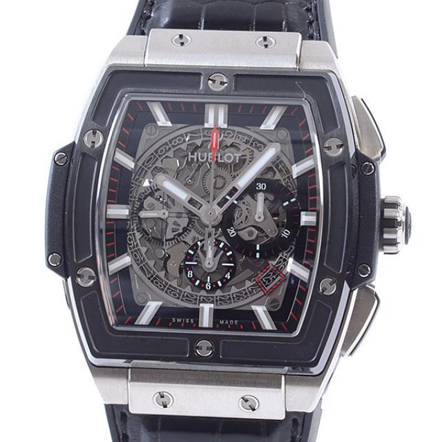 ウブロ HUBLOT スピリットオブビッグバン チタニウム セラミック 601.NM.0173.LRメンズ腕時計 チタニウム 中古 A品