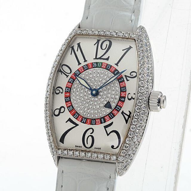 フランクミュラー FRANCKMULLER ヴェガス 5850 VEGASDメンズ腕時計 ホワイトゴールド 中古 A品