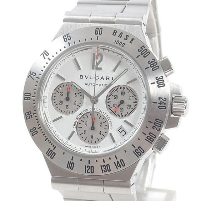 ブルガリ BVLGARI ディアゴノプロ タキメトリッククロノ CH40STAメンズ腕時計 ステンレス 中古 Used_B品