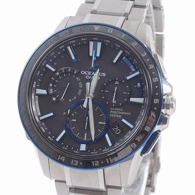 カシオ オシアナス OCW-G1200-1AJFメンズ腕時計 チタンxセラミック 中古 A品