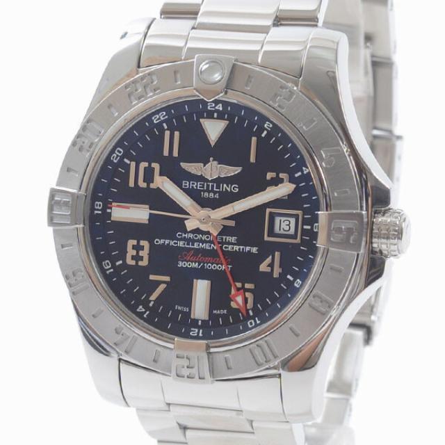 ブライトリング BREITLING アベンジャーGMT A329B34PSSメンズ腕時計 ステンレス 中古 A品