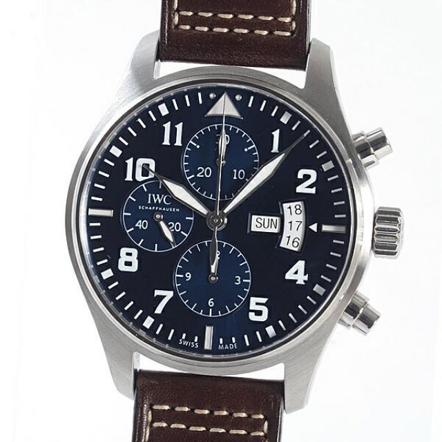 アイダブリュシー IWC パイロットウォッチ クロノグラフ IW377706メンズ腕時計 ステンレス 中古 A品