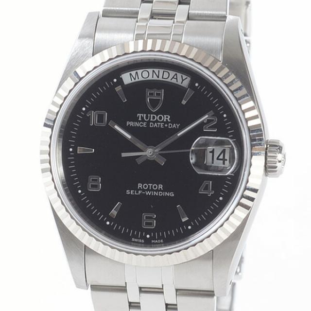 チュードル TUDOR プリンスデイデイト 76214メンズ腕時計 ステンレスxホワイトゴールド 中古 A品