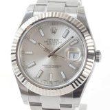 ロレックス ROLEX オイスターパーペチュアルデイトジャスト2 116334メンズ腕時計 ステンレスxホワイトゴールド 中古 A品
