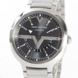 ルイヴィトン LOUISVUITTON ヴォヤジャー Q7D301メンズ腕時計 ステンレス 中古 A品