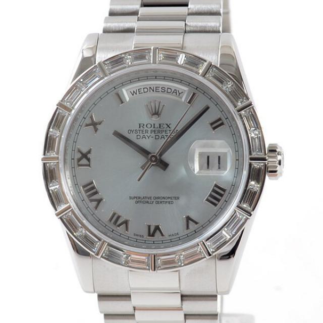 ロレックス ROLEX デイデイト 118366メンズ腕時計 プラチナ 中古 A品
