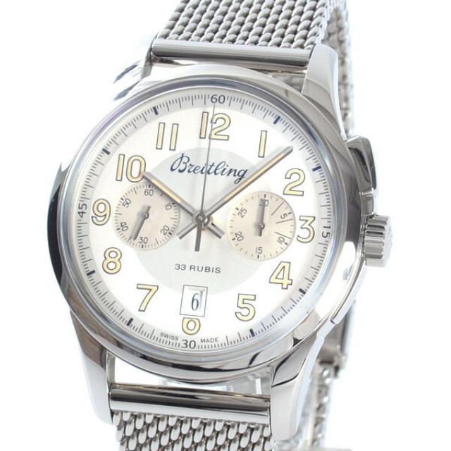 ブライトリング BREITLING トランスオーシャン クロノグラフ 1915 A019G990CAメンズ腕時計 ステンレス 中古 A品