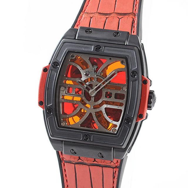 ウブロ HUBLOT スピリットオブビッグバン セラミック 612.CI.0002.LRメンズ腕時計 セラミック 中古 A品
