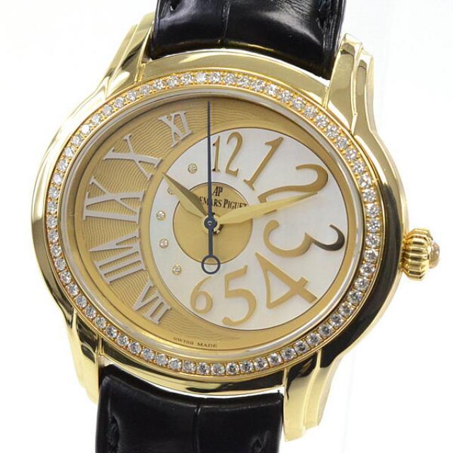 最大5000円クーポン (数量限定) オーデマピゲ AUDEMARS PIGUET ミレネリー 77301BA.ZZ.D097CR.01メンズ腕時計 イエローゴールド 中古 A品