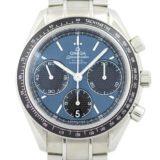 OMEGA オメガ スピードマスター レーシング コーアクシャル 326.30.40.50.03.001 ブラック ブルー 青 文字盤 SS メンズ 自動巻き 腕時計 中古